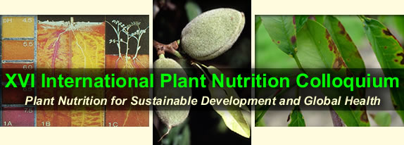 XVI International Plant Nutrition Colloquium: Plant Nutrition for Sustainable Development and Global Health